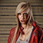 Крутой женский косплей Данте из Devil May Cry