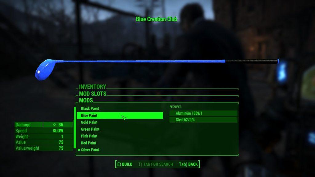 Мод Fallout 4 «Клуб Творчества» - это клюшка, которая создает случайные предметы во время взмаха ею