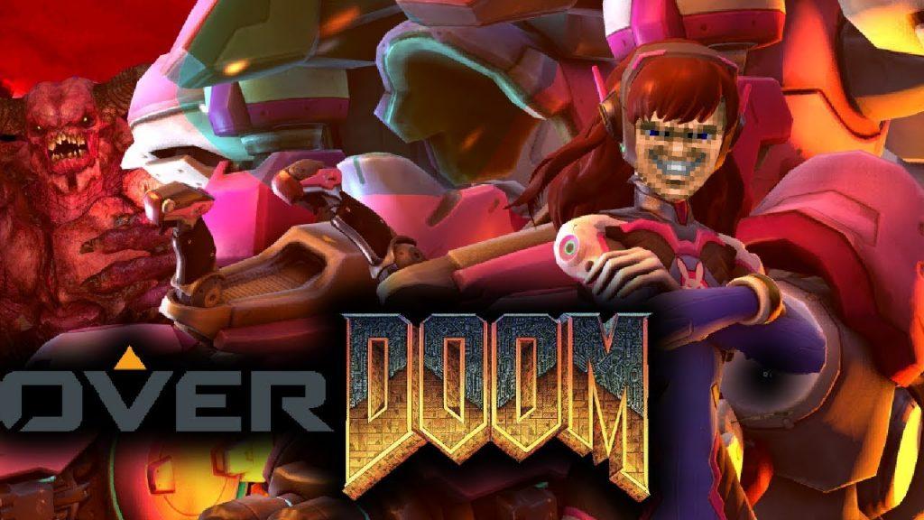 Мод-кроссовер Doom и Overwatch добавляет меха персонажа D.Va в игру
