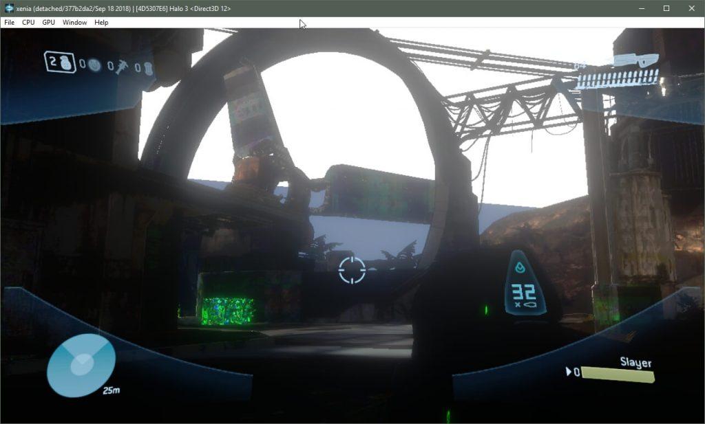 Показаны несколько скриншотов Halo 3 в эмуляторе для Xbox 360 в DX12