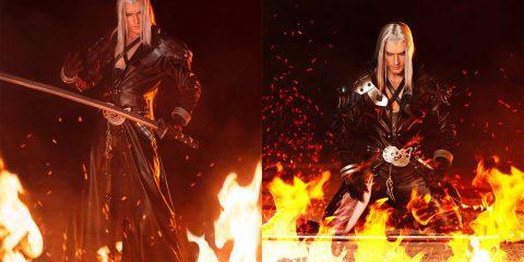 Косплей на восставшего из пламени Sephiroth