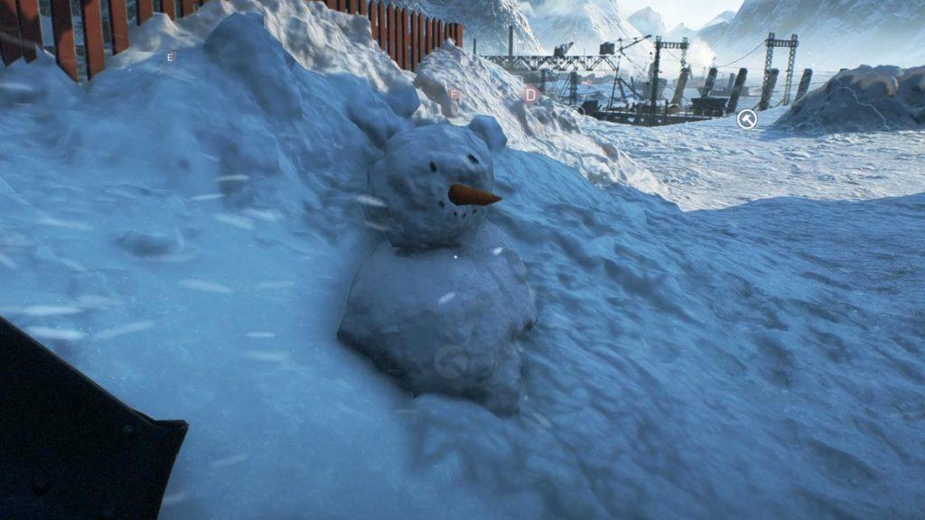 Ты сможешь построить снеговика в Battlefield 5