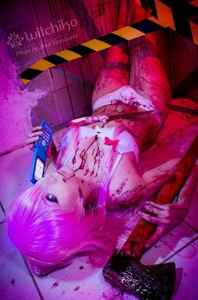 Резня в неоново-розовом цвете: удивительный косплей Юно Гасаи