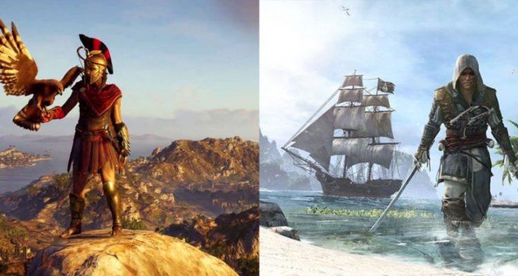 Сравниваем карту игры Assassin's Creed Odyssey с картами из 10 других игр серии