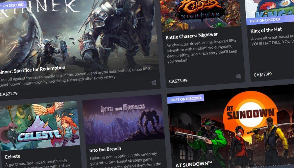 Discord запускает игровой магазин
