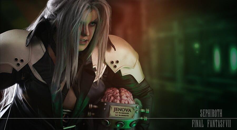 Здесь персонаж из Final Fantasy VII представлен героем, а не злодеем