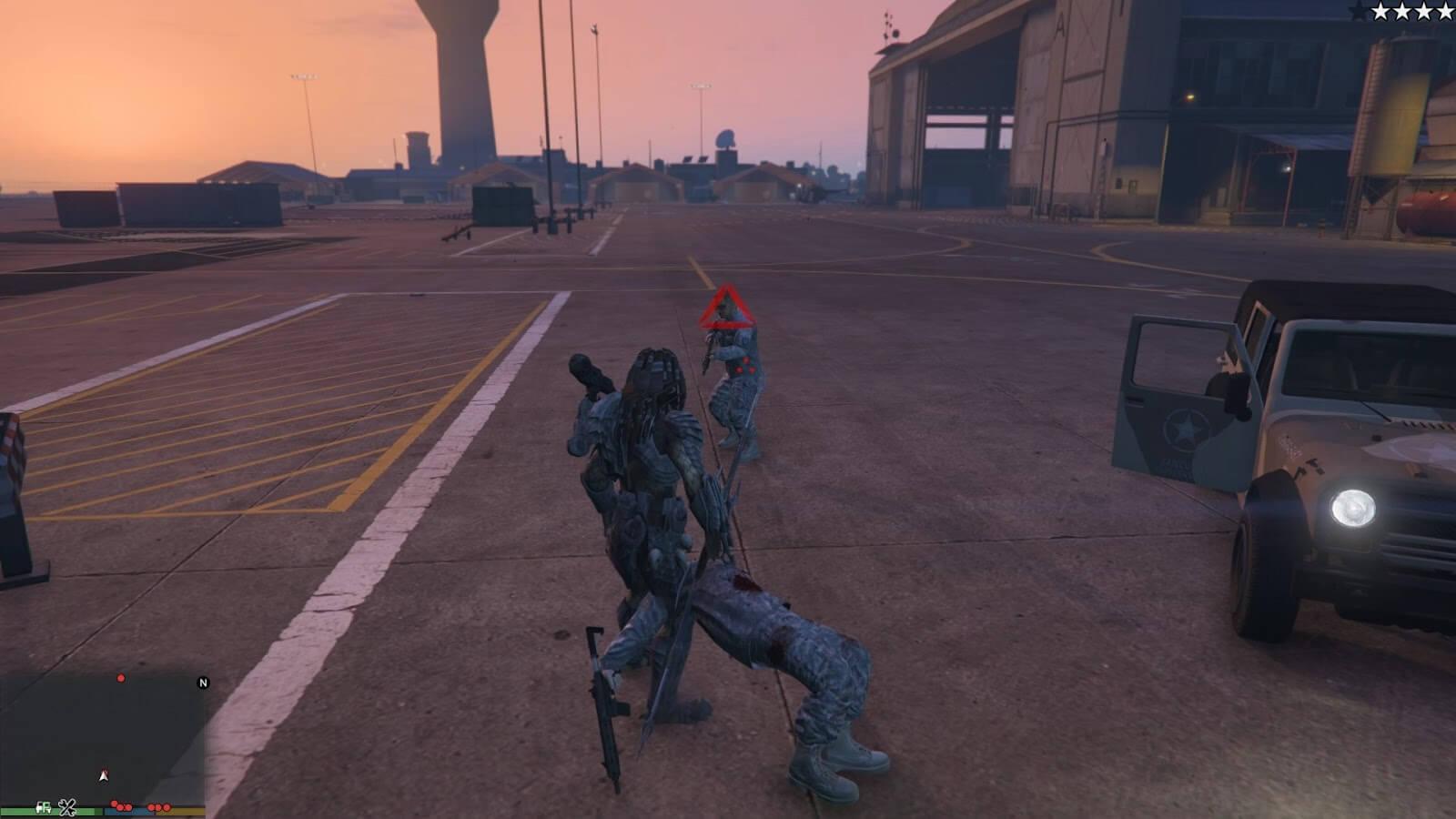 Мод Predator для GTA 5 от JulioNIB в духе фильмов, даже в