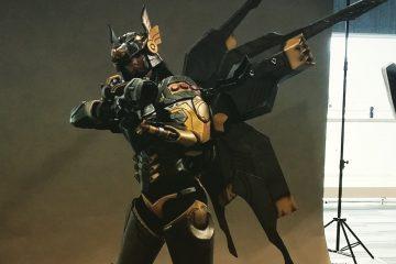 Полностью функционирующий косплей Фарры из Overwatch