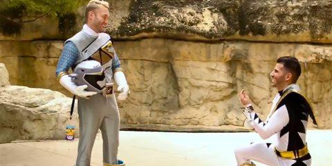 Косплей на Могучих Рейнджеров окончился предложением выйти замуж