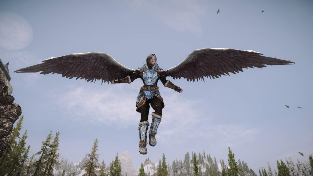 Божественное заклинание: мод Skyrim превращает игроков в ангелов