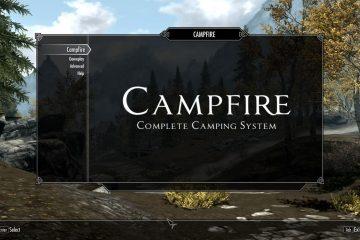 Модификация для кемпинга в игре Skyrim