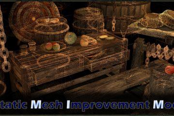 Вышла новая версия мода Static Mesh Improvement, преобразование, которое улучшает бесчисленные статичные 3D модели в Skyrim