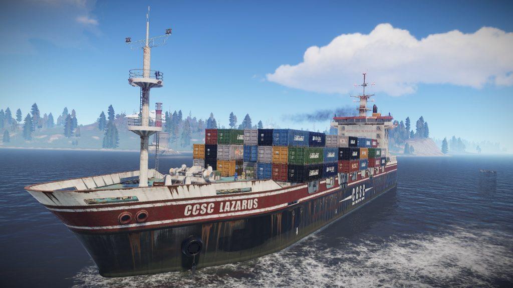 В новом обновлении для Rust под названием Cargo Ship появится большая лодка, заполненная игрушками