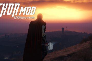 Мод для GTA 5 позволяет вам стать богом молний Тором, со всеми его сверхспособностями
