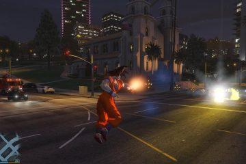 Благодаря моду для GTA 5 в игре появляется персонаж из Dragon Ball