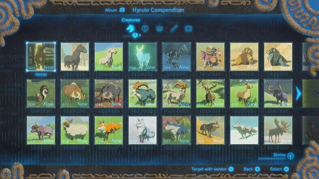 The Hyrule Compendium – The Legend of Zelda: Breath of the Wild