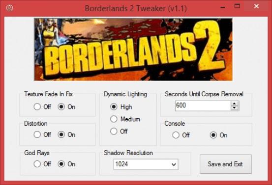 Твикер для Borderlands 2