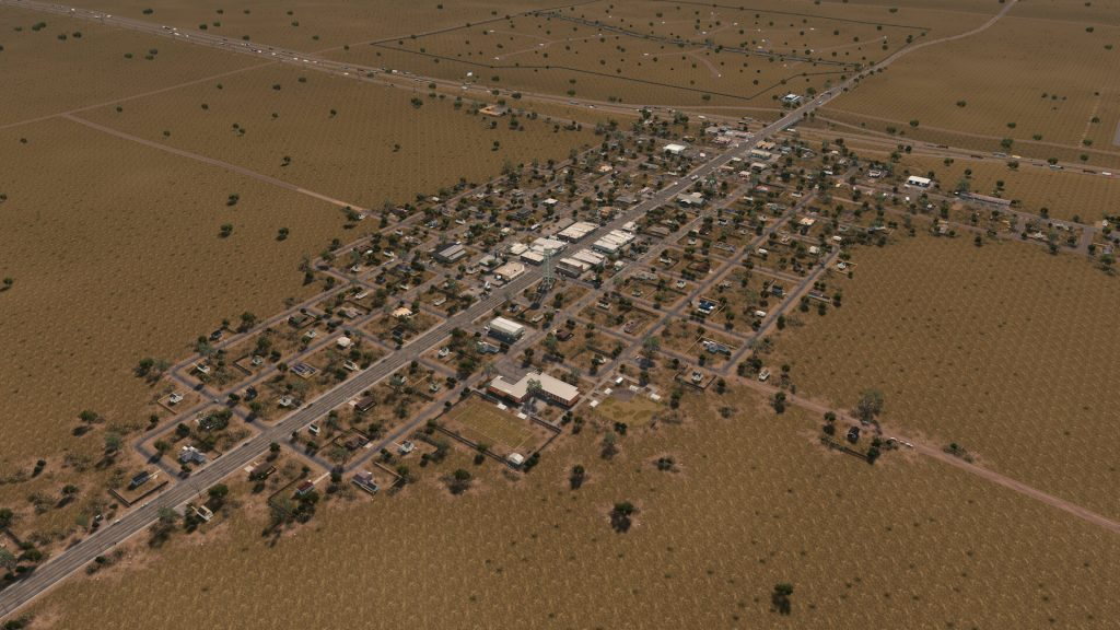 Посмотрите, как строился маленький техасский городок в Cities: Skylines