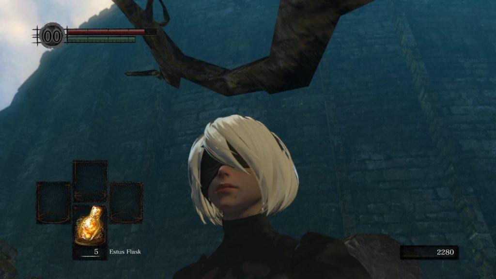 Благодаря этому моду в Dark Souls Remastered появляется 2B из NieR Automata