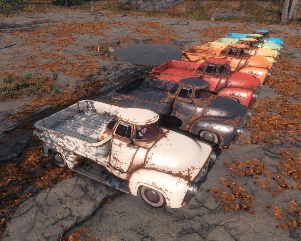 Мод для Fallout 4 добавляет несколько автомобилей, на которых можно ездить
