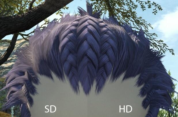 Мод HD Hairworks 2 для Final Fantasy XIV, содержащий более 700 переработанных текстур волос