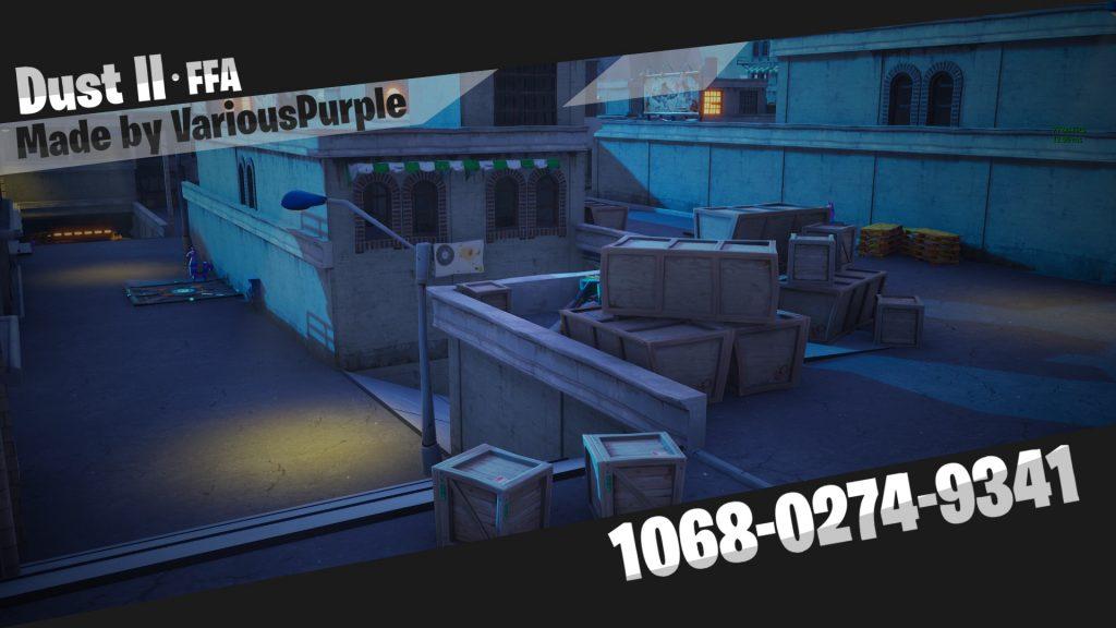 Как поиграть в Fortnite на карте de_dust2