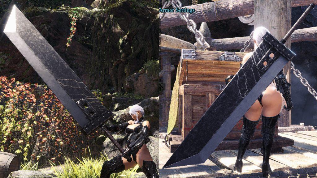 Благодаря этому моду в Monster Hunter World появляется Бастер меч из Final Fantasy 7 Remake