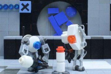 Portal 2 был воссоздан из Lego с использованием кукольной анимации