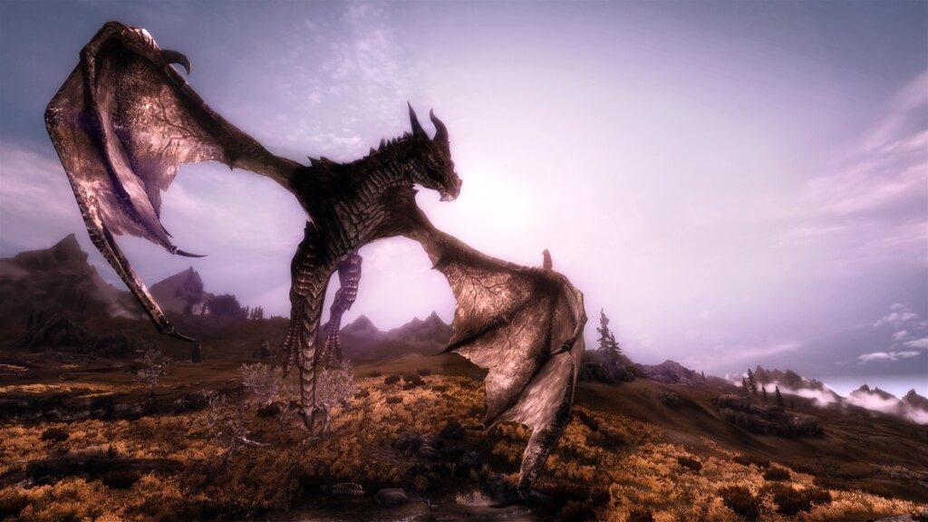 Мод для Skyrim — Enhanced Mighty Dragons