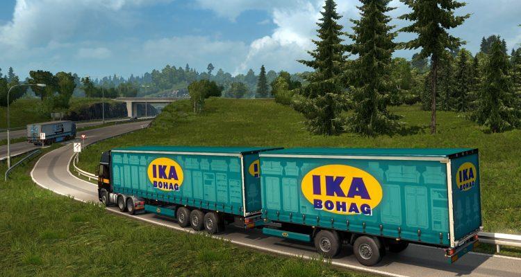 В Euro Truck Simulator 2, наконец, добавят двойной прицеп