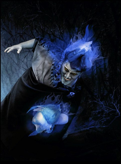 Сияющий косплей Аида из мультфильма «Геркулес»