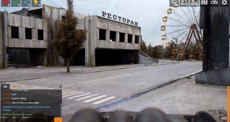 Браузерная игра позволяет вам контролировать реальных роботов на модели Чернобыля