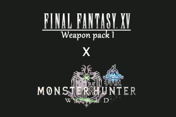 Мод для Monster Hunter World заменяет некоторое оружие на аналогичное из Final Fantasy XV