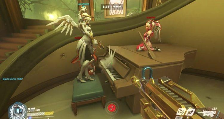 На новой карте Overwatch, «Париж», есть пианино, и люди на нем играют