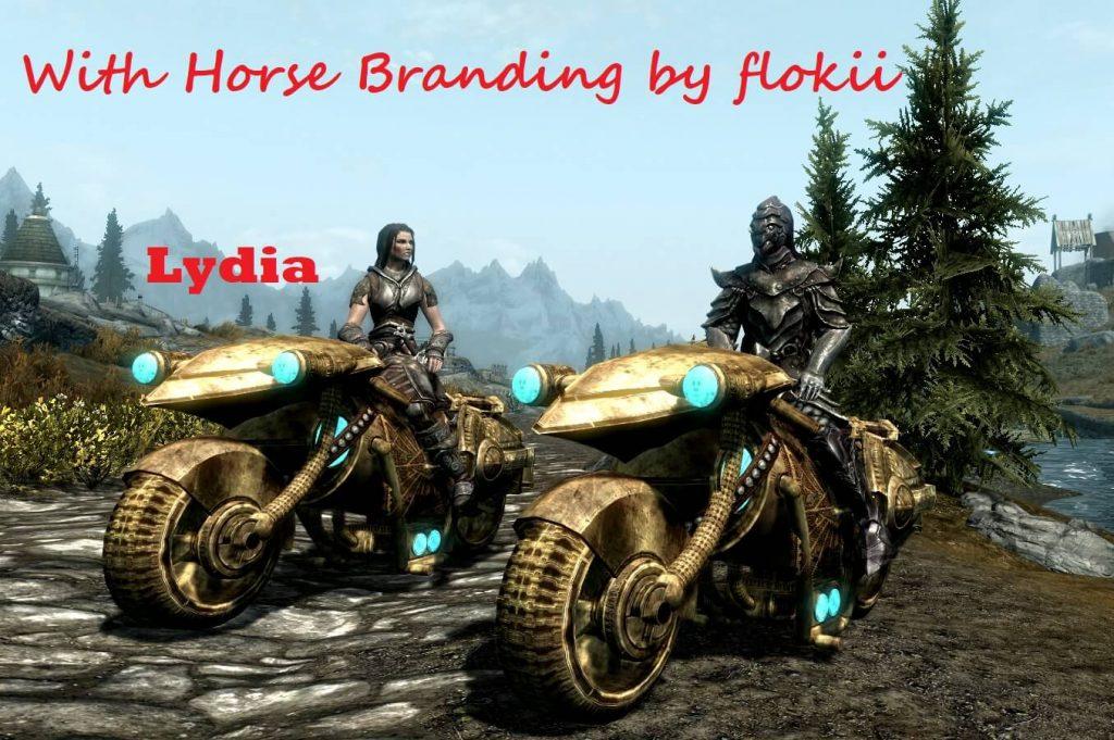 Кому нужны лошади, когда можно ездить по Скайриму на мотоцикле?