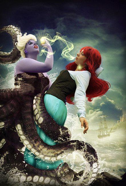 Морская ведьма из Атлантиды: косплей Урсулы из «Русалочки»