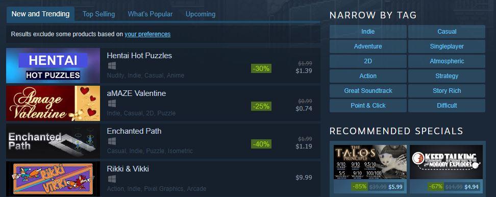 В Steam теперь есть нескончаемый запас хентайных головоломок