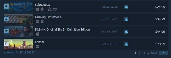 В Steam теперь имеется 30,000 игр