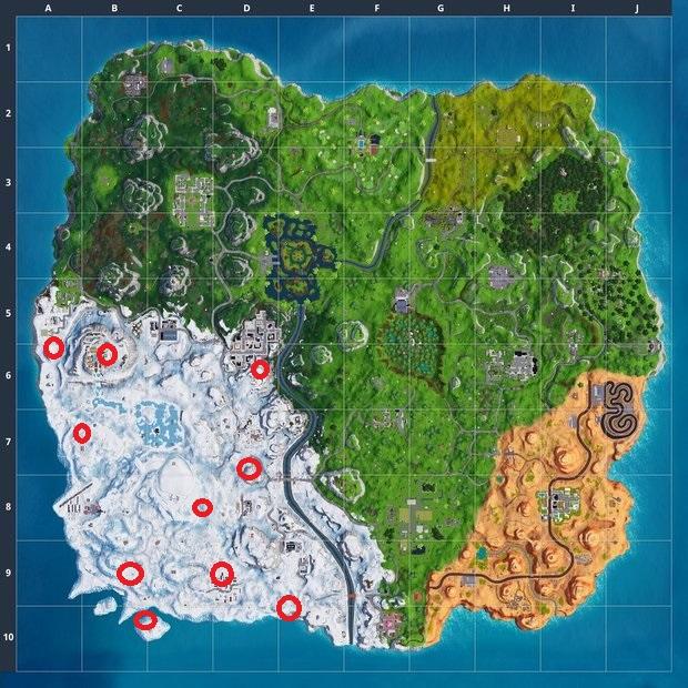Где найти замерзших гномов в Fortnite