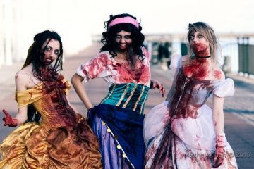 Знаменитые персонажи Диснея в зомби-косплеях