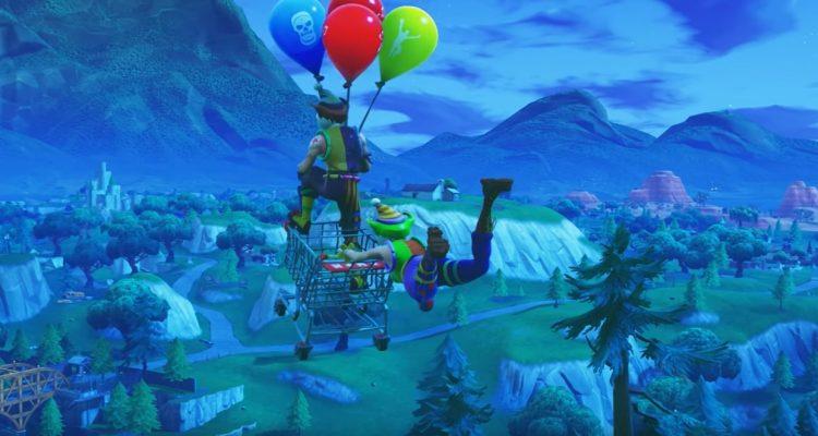 Где найти золотые воздушные шары в Fortnite