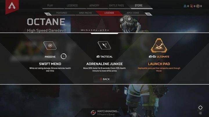 Октан - информация о новом герое в Apex Legends