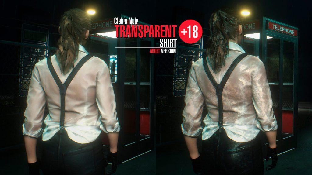 Для Клэр Редфилд стал доступен прозрачный нуар костюм
