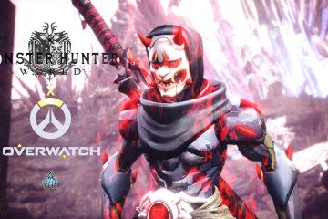 В Monster Hunter World рубить монстров теперь можно и в обликах персонажей Overwatch Гэндзи Бай-Ху и Гэндзи Они