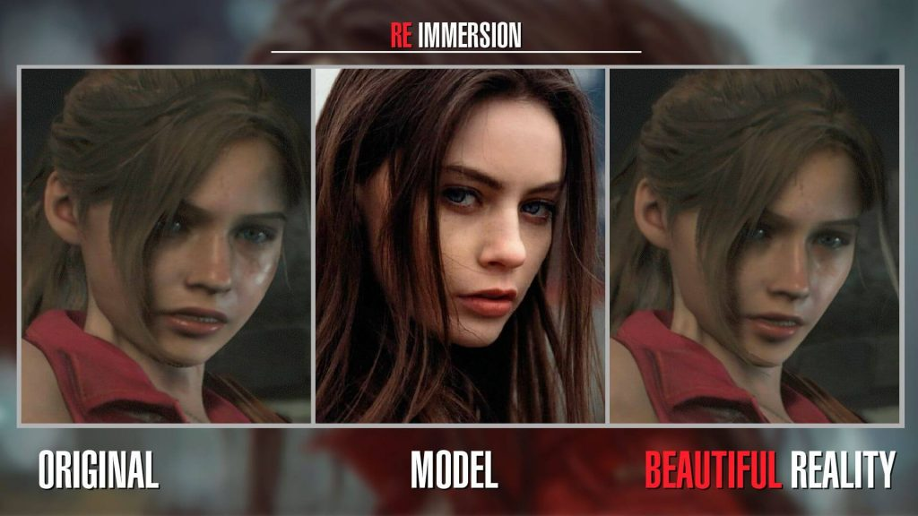 Красивое реалистичное лицо Клэр