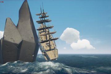 Sea of Thieves - игроки затащили корабль на высокую скалу