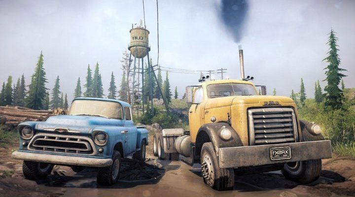Бесплатный DLC для MudRunner добавляет две машины и карту