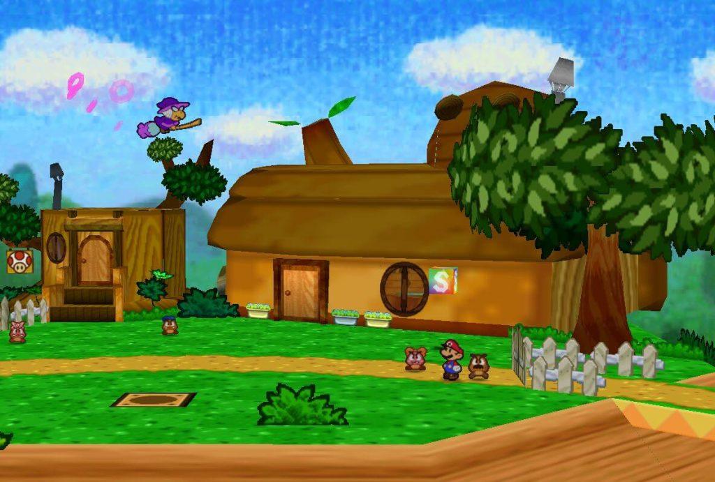 Начало в Деревне Гумб - Paper Mario 64