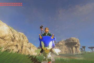 The Legend of Zelda: Breath of the Wild —мод превращающий мотоцикл в Соника