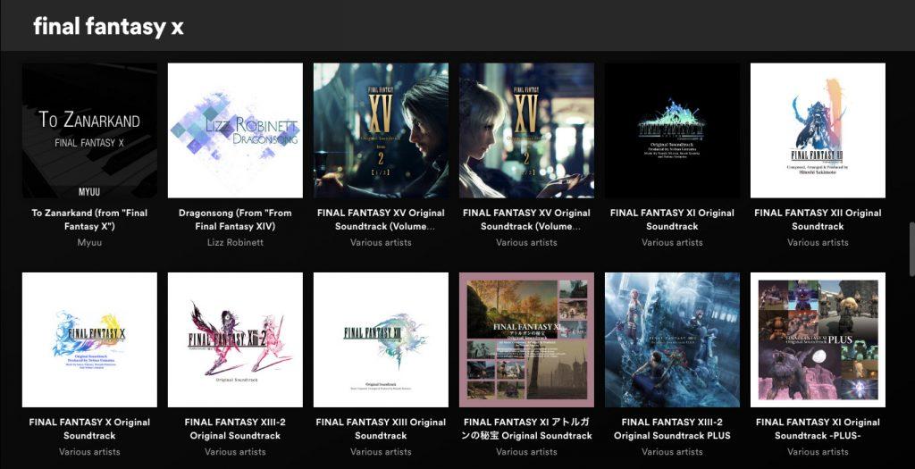 Теперь на Spotify доступен саундтрек Final Fantasy